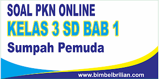 Kali ini  menyajikan latihan soal berbentuk online untuk memudahkan putra Kumpulan Soal PKN Online Kelas 3 SD Bab 1 Sumpah Pemuda - Langsung Ada Nilainya