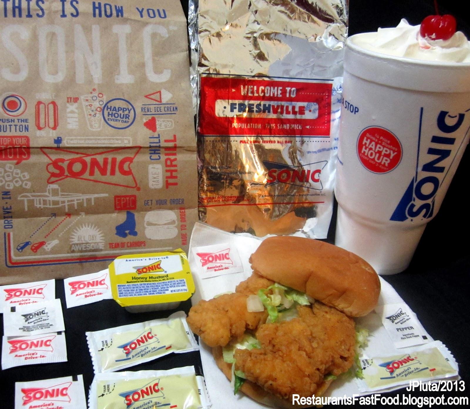 Sonic Fast Food Restaurant