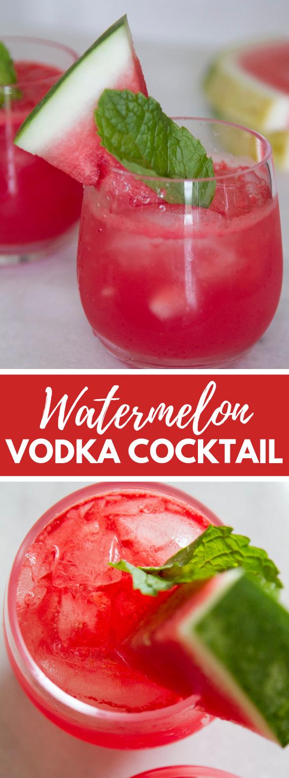 Watermelon Vodka Cocktail #drink #summer