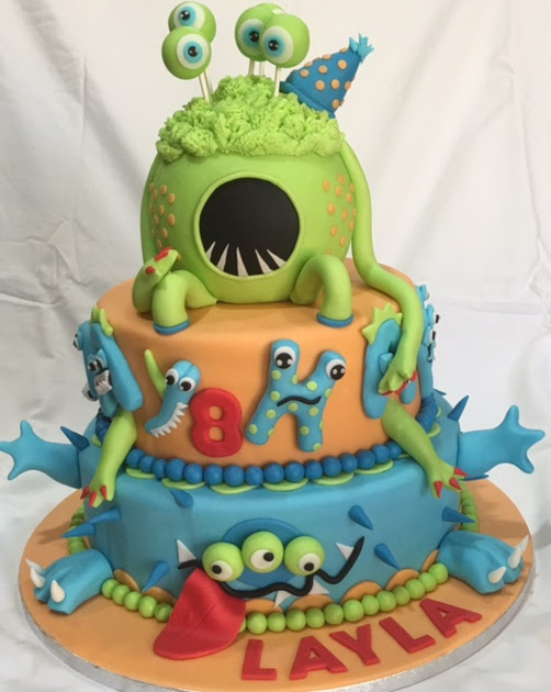 Monster Inc. themed cake