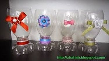 Gelas Cantik dari Botol Bekas Kerajinan Tangan Unik dan Mudah