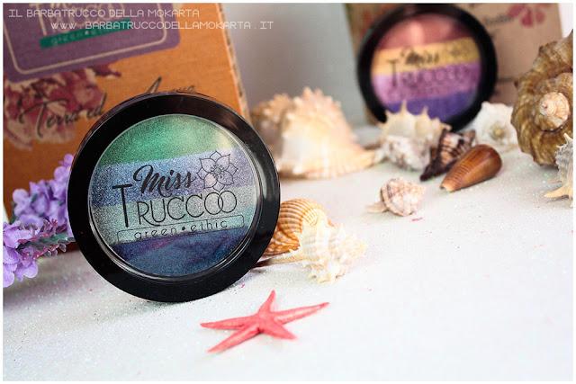 miss trucco eyeshadow palette ombretti terra  acqua  recensione
