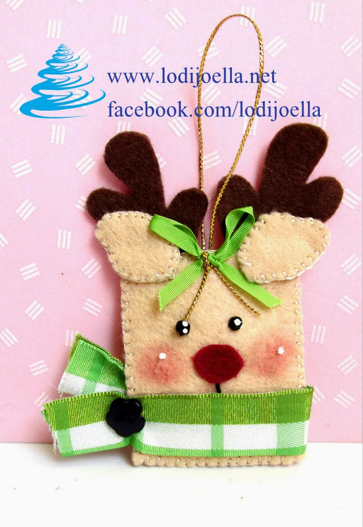 Adornos en fieltro navide os para el rbol lodijoella for Manualidades para adornos navidenos