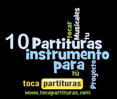 10 Partituras Musicales Populares infantiles de Flauta, Violín, Saxofón Alto, Trompeta, Viola, Oboe, Clarinete, Saxo Tenor, Soprano Sax, Trombón, Guitarra, Fliscorno, Chelo, Fagot, Barítono, Bombardino, Trompa o corno, Tuba...