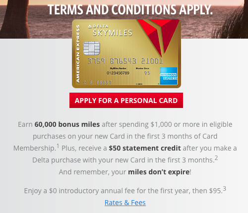 All the Right Points: 60,000 Mile Bonus (Targeted) for Gold Delta ...