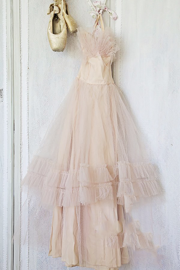 blush vintage prom dress shabbyfufu