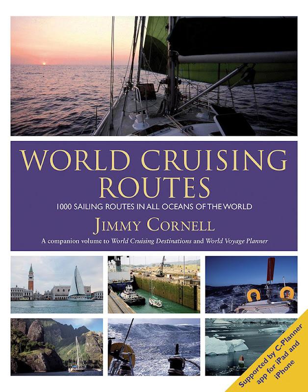 Okładka ksiązki World Cruising Routes Jimmiego Cornella