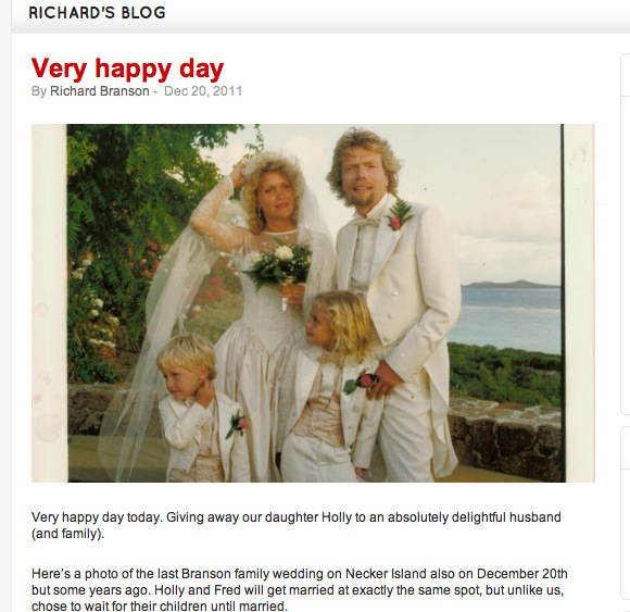 Maybe She's That Girl: Sir Richard Branson's Blog and A ...
