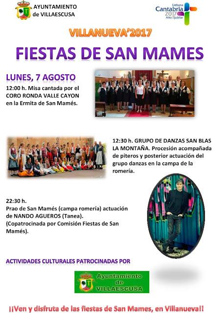 Fiestas de San Mamés en Villanueva, Villaescusa 2017