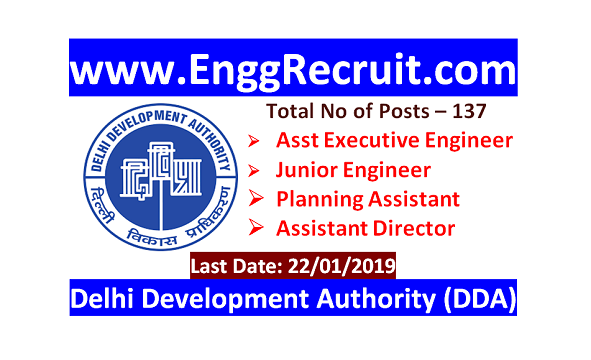 DDA Recruitment 2018