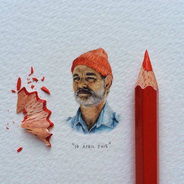 27-Bill-Murray-The-Life-Aquatic-Lorraine-Loots-Miniature-Paintings-Commemorating-Special-Occasions-www-designstack-co