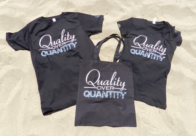 Quality over Quantity from the Freelance Collection shirt and tote bag