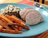 Tender Pork Tenderloin with Cumin Carrot Fries