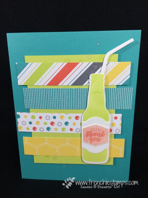 Bubble Over, Bottles and Bubbles Framelits, Bubbles & Fizz Designer paper, Stampin'Up!,