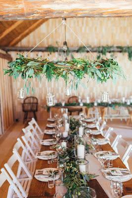 photo de decoration de table de mariage champetre
