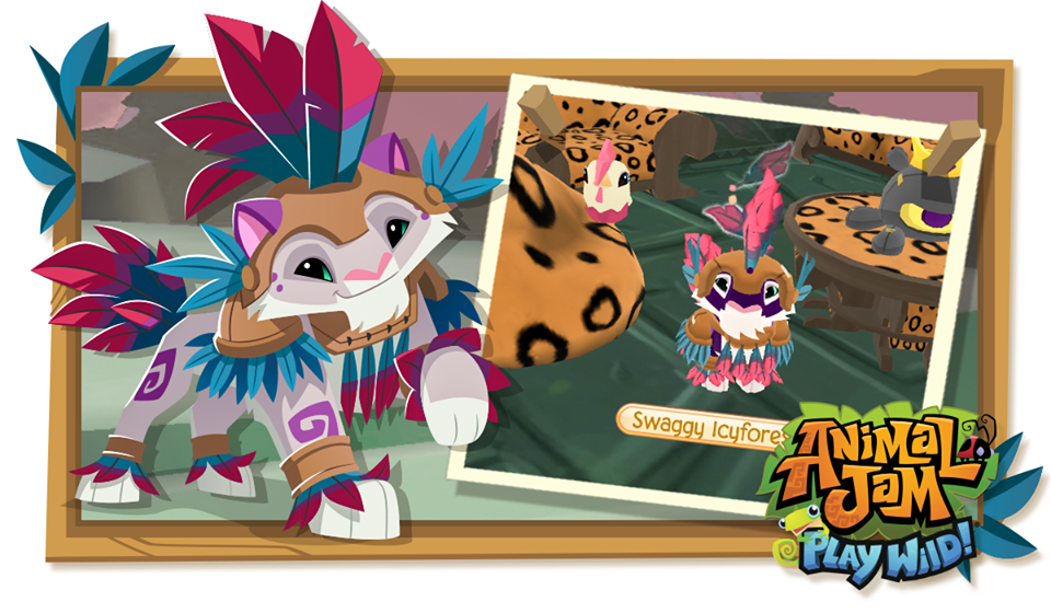 Image of: Png Did You Know Your Animal Performs Special Animation Or Effect If You Wear Full Clothing Set On Play Wild Loveee The Detail That Ajhq Puts Into Making Animal Jam Spirit Blog Animal Jam Spirit Blog Play Wild Snow Leopards Chinese New Year