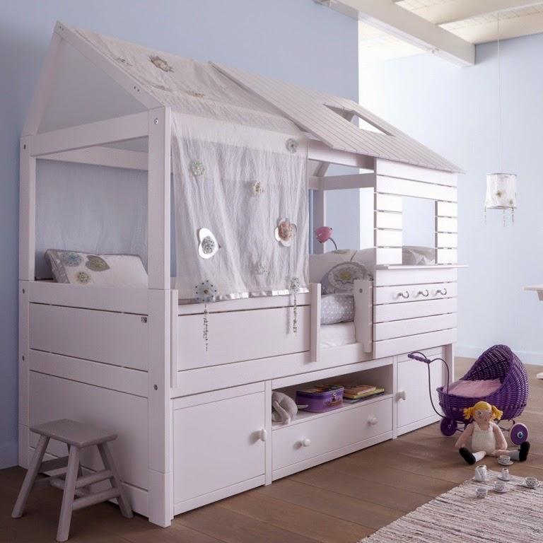 Hogares frescos preciosa colecci n de camas infantiles - Camas con armario debajo ...