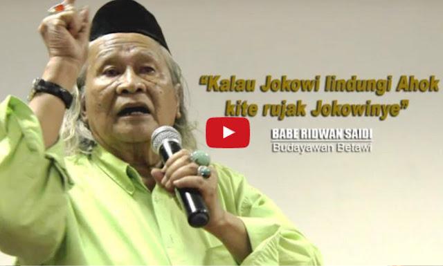 Hari Pahlawan, Ridwan Saidi: Kawal Kasus Ahok Agar Tidak Menyimpang 