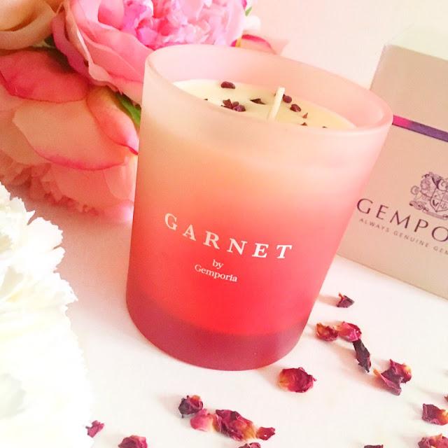 Gemporia Garnet Candle