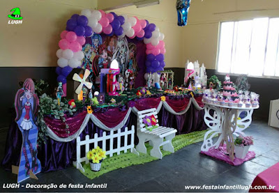 Decoração tema Monster High - aniversário infantil