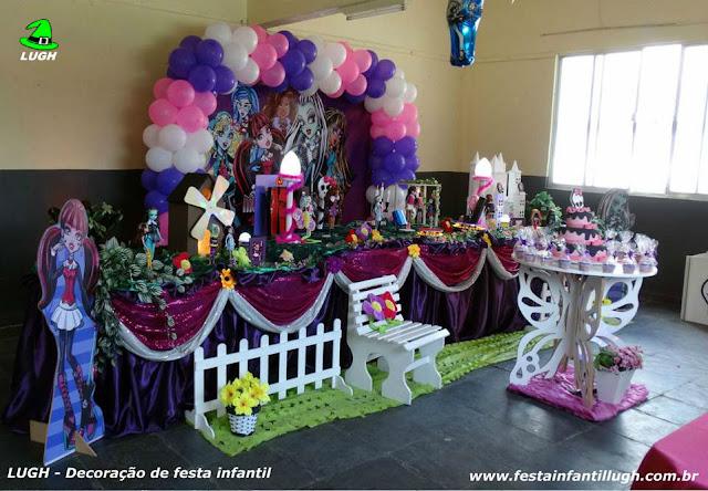 Decoração aniversário infantil Monster High - Tradicional luxo
