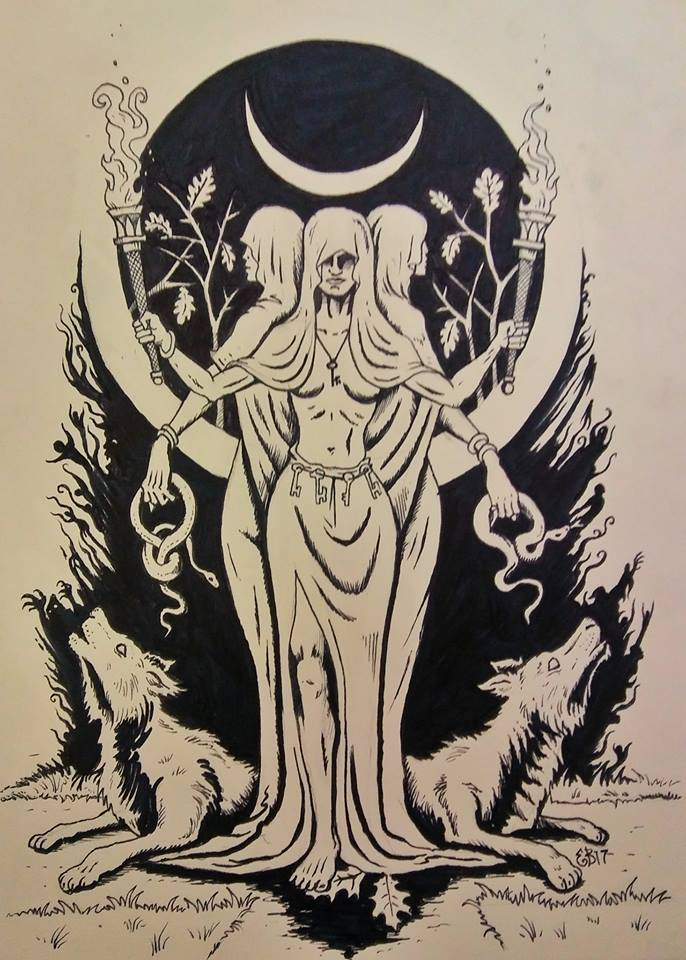 an analysis of paganism and the festival of hecate Hecate (sometimes spelled hekate) was originally a thracian, and pre-olympian greek goddess, and ruled over the realms of earth and fertility rituals as a goddess of childbirth, she was often invoked for rites of puberty, and in some cases watched over maidens who were beginning to menstruate.