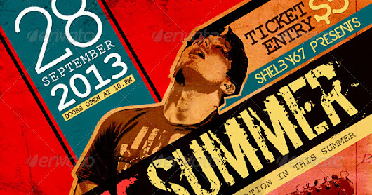 Rock Summer Flyer / Poster         |          HD Flyer Templates
