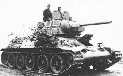 Советский танк Т-34 на службе Вермахта