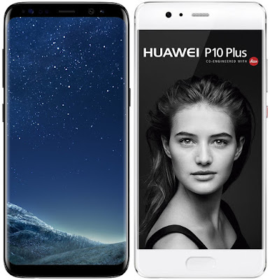 Samsung Galaxy S8 vs Huawei P10 Plus