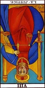 la carte de la justice à l'envers
