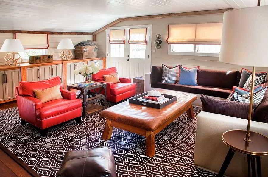 Ruang Tamu dengan Sofa Sederhana Modern