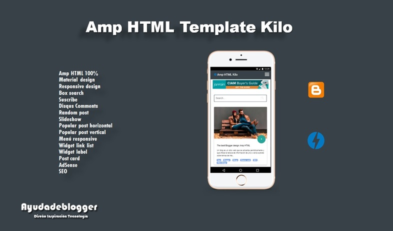Amp HTML Blogger Template - Free Template AMP Kilo