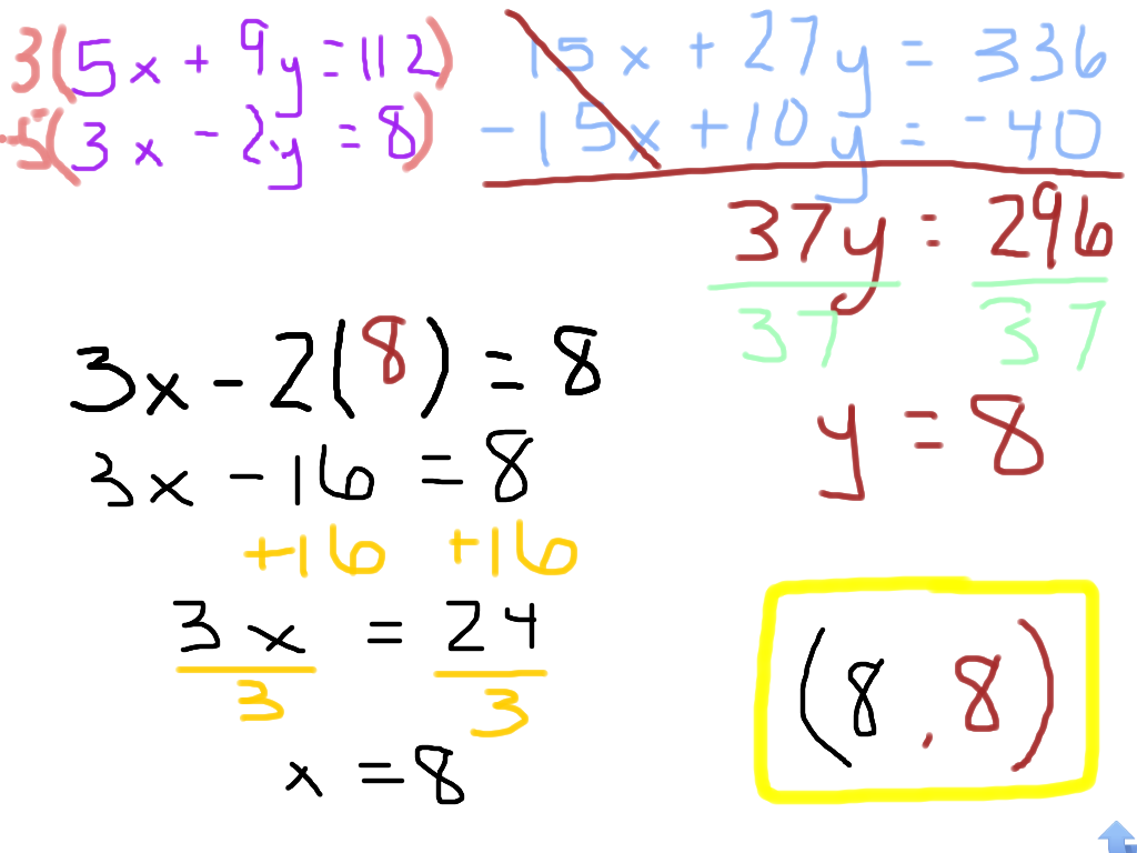 Room Algebra 6 61 To 66 Amp Elimination