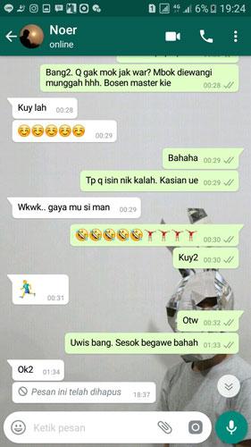 WhatsApp Pesan ini telah dihapus