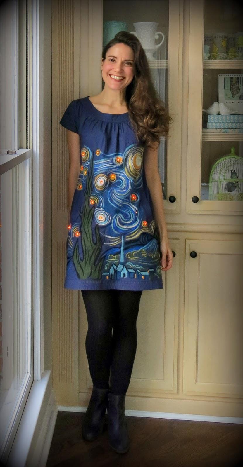 Cassie Stephens Vincent Van Gogh Dress