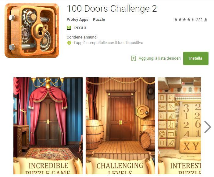 Soluzioni 100 Doors Challenge 2 livello 31 32 33 34 35 36 37 38 39 40 | Trucchi e Walkthrough level
