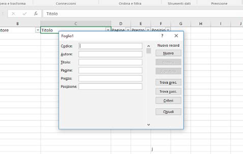 Come utilizzare i moduli in excel per raccolta dati