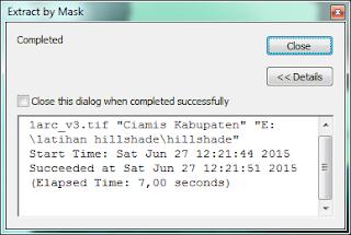 Proses Extract by Mask yang sudah Selesai