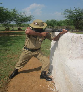 Firing in Standing Position from trench