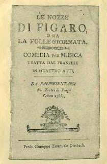 The front page of a programme for the presentation of the Marriage of Figaro
