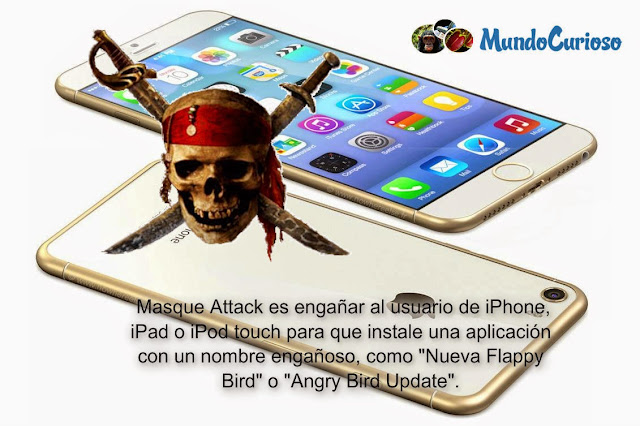 Masque Attack es engañar al usuario de iPhone, iPad o iPod touch