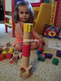 building a lighthouse out of wooden blocks