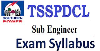 TSSPDCL Sub Engineer Syllabus