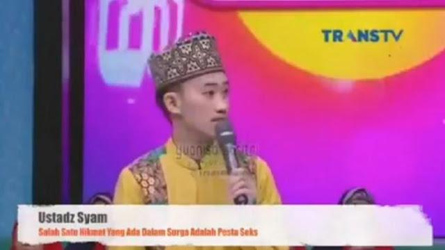 Ustaz Syam Mengakui Salahnya, Minta Maaf Sudah Mengatakan Pesta Sex di Surga