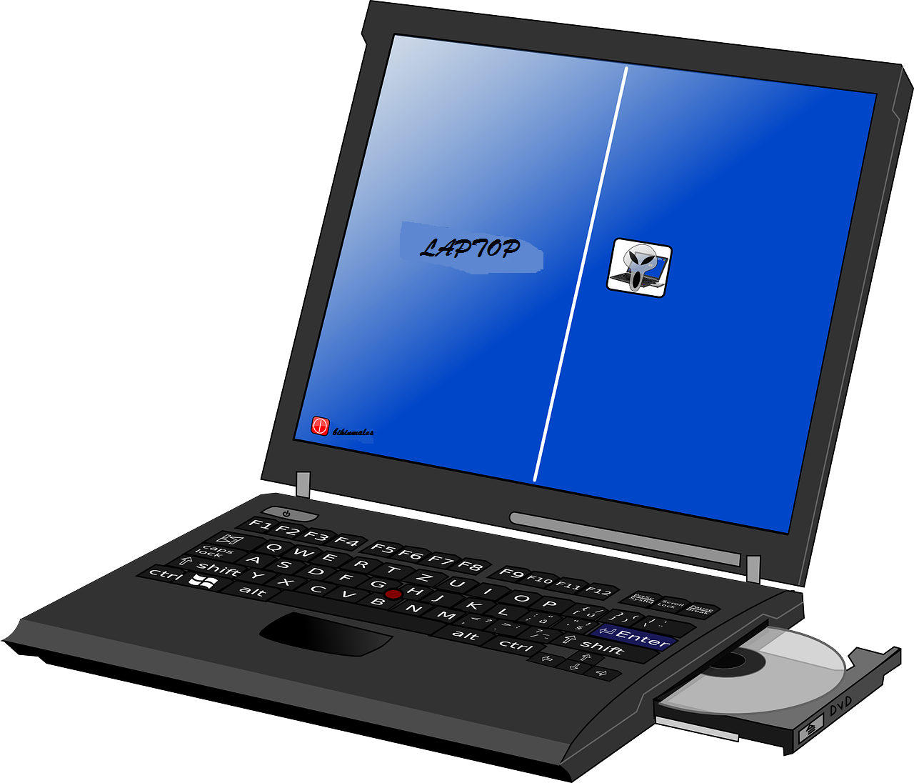 Ilustrasi Optical Drive pada laptop