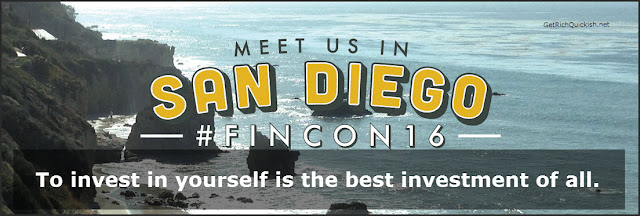 Get Rich Quick'ish is going to FinCon