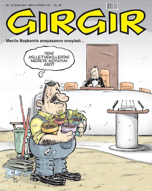 Gırgır Dergisi | 25-31 Ocak 2017 Kapak Karikatürü