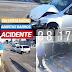 AMINTAS BARROS: carro vira após colisão