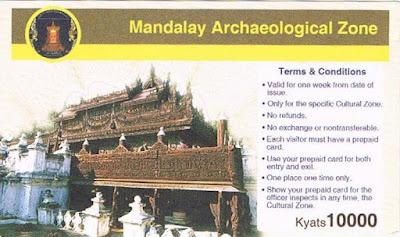 Ticket Zona Arqueológica de Mandalay