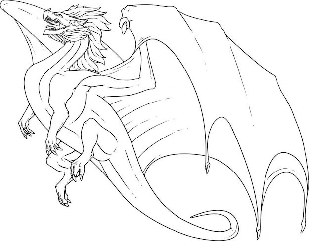 Dragon Coloring Sheet   Dragon Coloring Page Free Printable Dragon  Coloring Pages For Kids